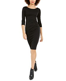 3/4-Sleeve Sheath Dress
