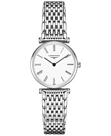Women's Swiss La Grande Classique de Longines Stainless Steel Bracelet Watch 24mm
