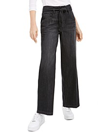 Wide Leg Cotton Jeans