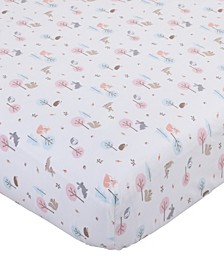 Woodland Print Mini Crib Sheet