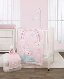 Rainbow Unicorn 3-Piece Mini Crib Bedding Set