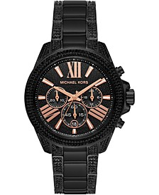 Women's Chronograph Wren Black Stainless Steel Bracelet Watch 42mm