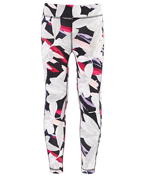 Ideology Big Girls Printed 7/8 Caged Leggings, Created For Macy's