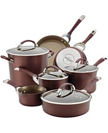 Symmetry Merlot 11-Pc. Hard-Anodized Non-Stick Cookware Set