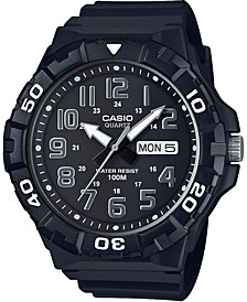 Men's Black Resin Strap Watch 50mm