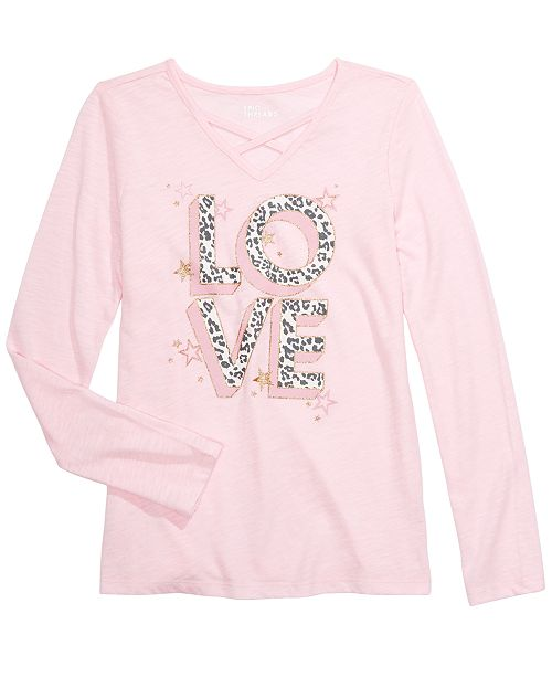 Epic Threads Big Girls Love T-Shirt, Created For Macy's