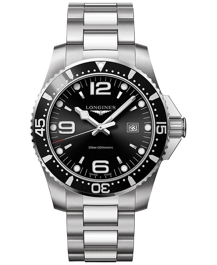 Longines - Men's Swiss HydroConquest Stainless Steel Bracelet Watch 44mm L38404566