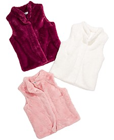 Big Girls Faux-Fur Vests, Created For Macy's