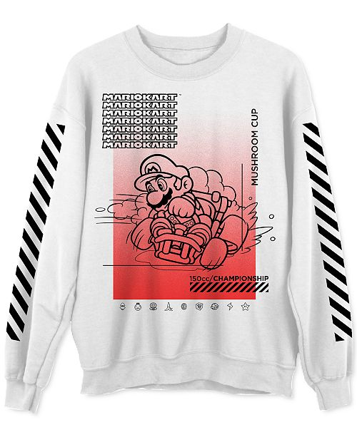 Hybrid Mario Mushroom Champ Men's Graphic Sweatshirt