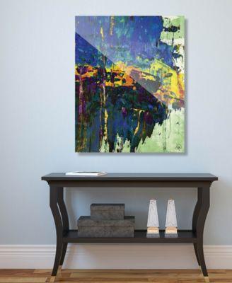 "Roadblocked in Blue Abstract 16"" x 20"" Acrylic Wall Art Print"