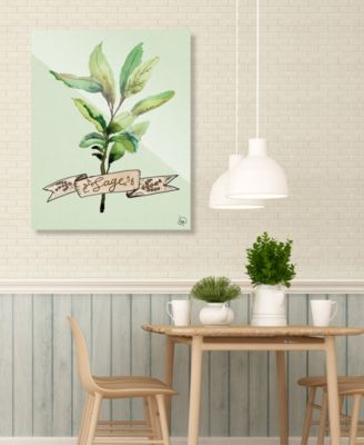 "Watercolor Sage on Green 16"" x 20"" Acrylic Wall Art Print"