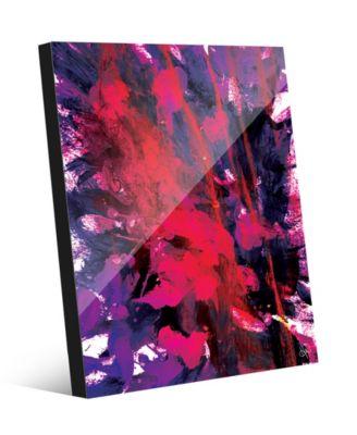 "Spring Flower Abstract 20"" x 24"" Acrylic Wall Art Print"