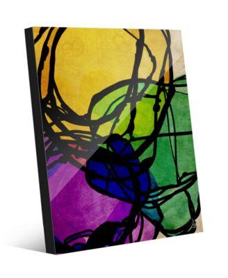 "Social Status Graphic Abstract 24"" x 36"" Acrylic Wall Art Print"