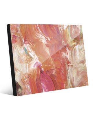 Fire Horse in Peach Abstract 16