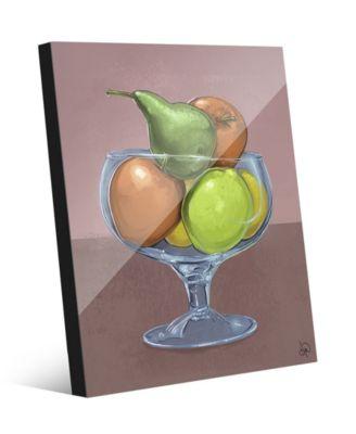 Fruit Still Life on Brown Illustration 16