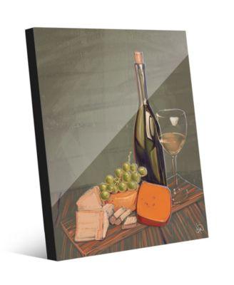 Wine's Best Friends on Olive Green Illustration 24