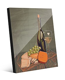 Wine's Best Friends on Olive Green Illustration Acrylic Wall Art Print Collection