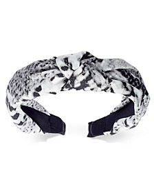 INC Snake-Print Knotted Fabric Headband, Created for Macy's