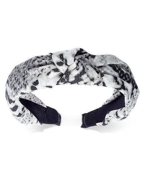 INC International Concepts INC Snake-Print Knotted Fabric Headband, Created For Macy's