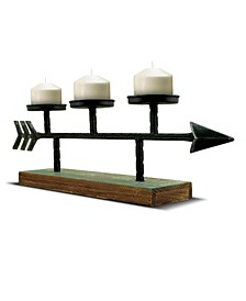 American Art Decor Arrow Wooden Stand Candle Holder Candelabra