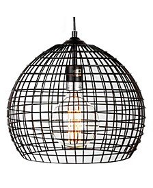 American Art Decor Industrial Style Caged Pendant Lamp with Edison Bulb