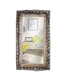 American Art Decor Rustic Scalloped Farmhouse Rectangular Mirror
