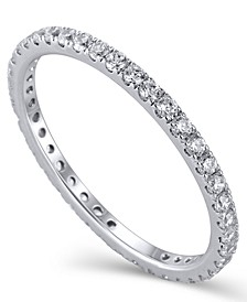 Certified Diamond (1/2 ct.t .w.) Eternity Band in 14K White Gold