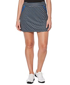 Striped Flouce Golf Skort