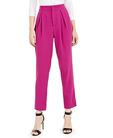 High-Rise Pleated Pants, Created for Macy's
