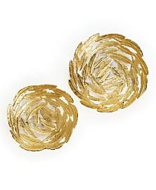 Gold Leaf Pattern Decorative Bowls - Set of 2