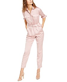 INC Button-Front Jumpsuit, Created for Macy's
