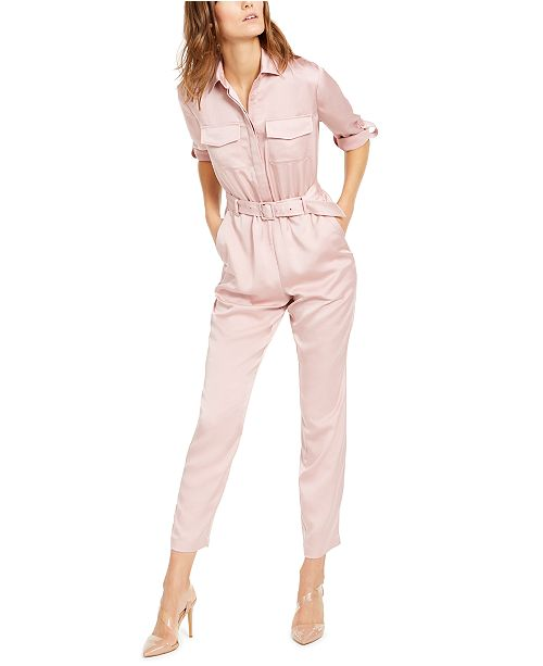 INC International Concepts INC Petite Button-Front Jumpsuit, Created For Macy's