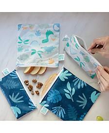2-Pk. Dinosaur & Blue Tropic Snack Bag Set