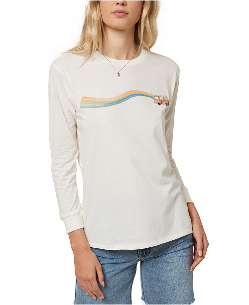 O'Neill Juniors' Sandra Cotton Graphic-Print T-Shirt