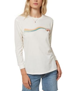 O'neill Juniors' Sandra Cotton Graphic-print T-shirt In Bone