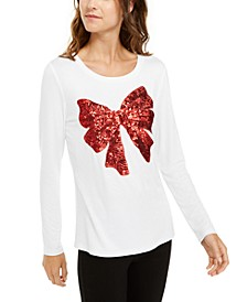 INC Sequin Bow Top, Created For Macy's