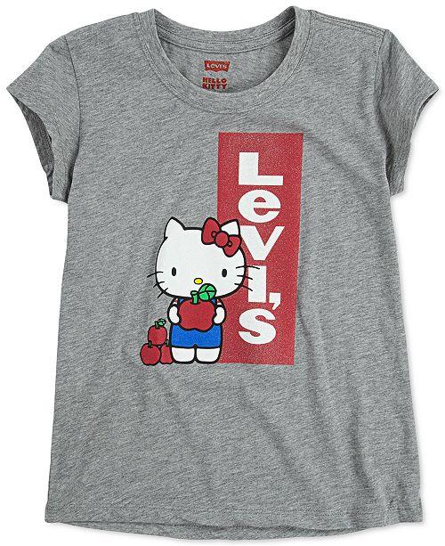 Levi's x Hello Kitty Toddler Girls Logo T-Shirt