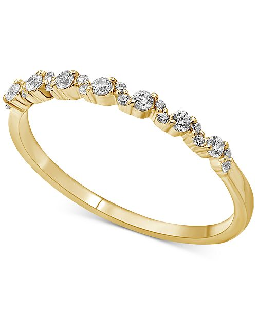 Macy's Diamond Stackable Band (1/5 ct. t.w.) in 14k Gold