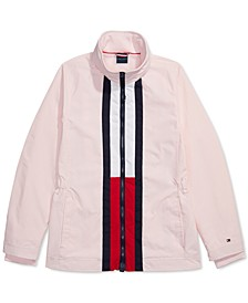 Women's Windbreaker Jacket with Magnetic Zipper