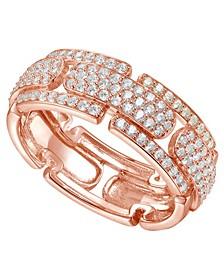 3/4 ct. t.w. Round Shape Diamond Ring in 14k Rose Gold