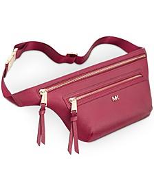 Stingray-Embossed Leather Belt Bag