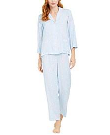 Paisley-Print Woven Pajamas Set