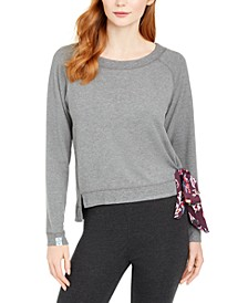 Sonoma French Terry Cropped Pajama Sweatshirt, Online Only