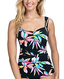 Paparazzi Underwire Tummy Control Tankini Top, Available in D Cup