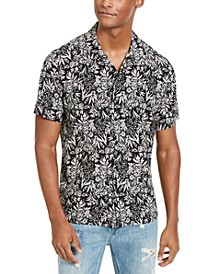 Sun + Stone Men's Organic Floral Print Short Sleeve Shirt, Created For Macy's