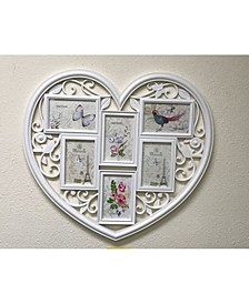 "Heart Shaped 6 Photo Frames 4"" x 6"""