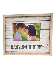 "Lighted Photo Frame 4"" x 6"" with Family"