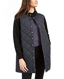 Mixed-Media Quilted Jacket, Regular & Petite, Created For Macy's