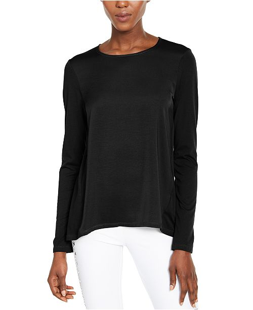Michael Kors Mixed-Media Top, Regular & Petite Sizes