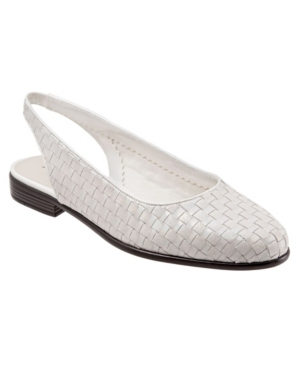 Retro Vintage Flats and Low Heel Shoes Trotters Lucy Sling Back Flats Womens Shoes $89.95 AT vintagedancer.com